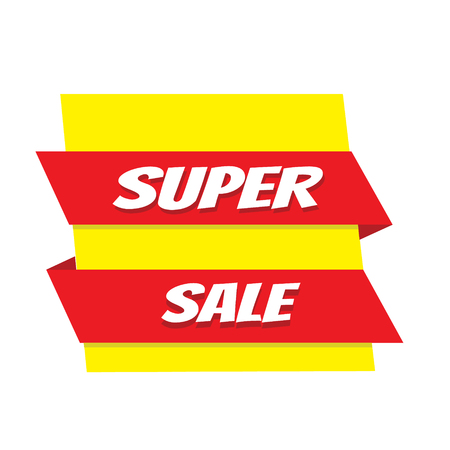 Super verkoop banner. Vector illustratie Stockfoto - 83945618