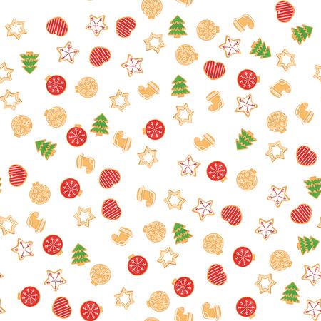 Kerstkoekpatroon. Vector illustratie