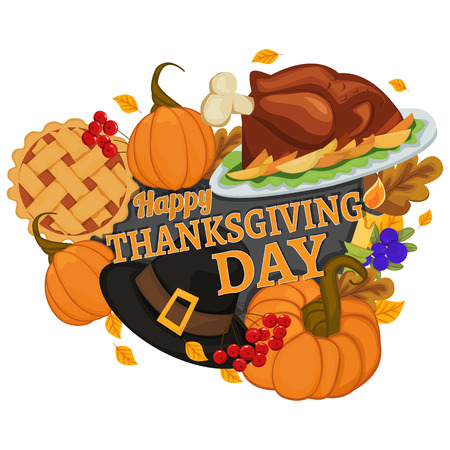 Thanksgiving dag banner. Vector illustratie