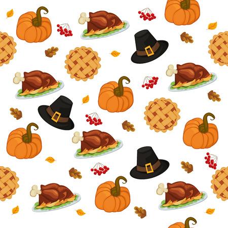 Thanksgiving dag patroon Vector illustratie Stockfoto - 87431684