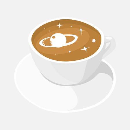 Cup coffee isolated. Vector illustration on white background