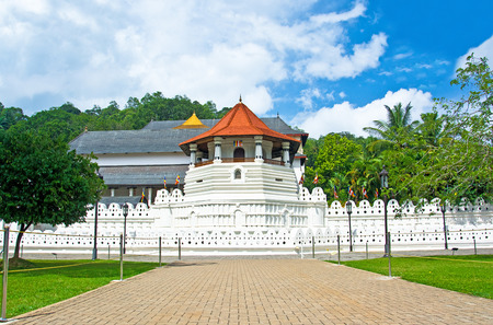 kandy: Temple Of The Sacred Tooth Relic, That Is Located In The Royal Palace Complex Of The Former Kingdom Of Kandy, Sri Lanka, Which Houses The Relic Of The Tooth Of Buddha