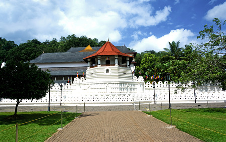 social history: Temple Of The Sacred Tooth Relic, That Is Located In The Royal Palace Complex Of The Former Kingdom Of Kandy, Sri Lanka, Which Houses The Relic Of The Tooth Of Buddha