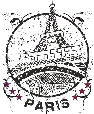 the Eiffel Tower the symbol of Paris the city of love Stock Vector - 9383670