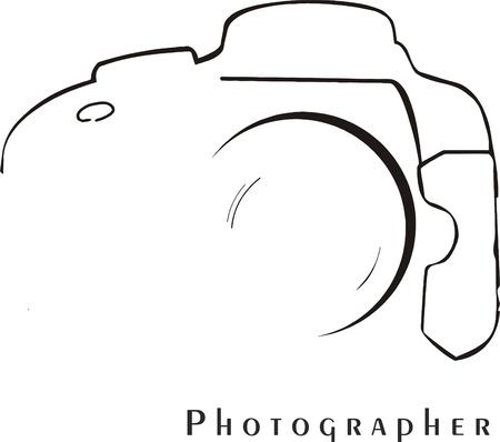 voor fotografen die willen onmiddellijk worden herkend Vector Illustratie
