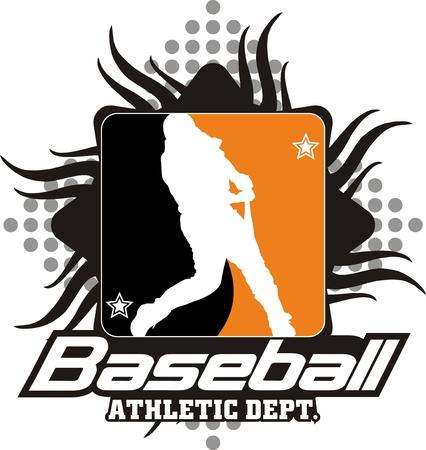 batidora: El batidor de un equipo de b�isbol en un Siluetas