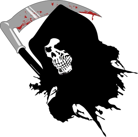 death with the bloody sword Vector