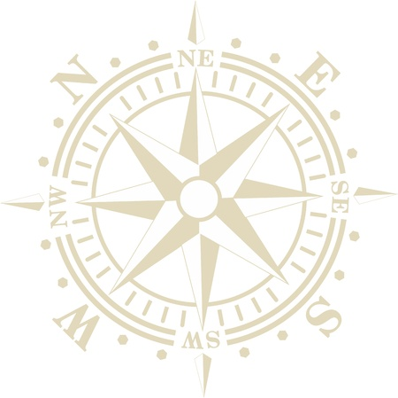 old style compass wind rose
