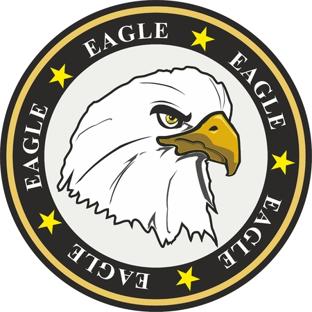 coat of arms eagle with stars and circles  Illustration