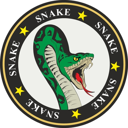 coat of arms snake with stars and circles