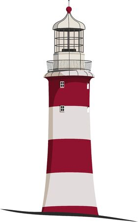 lighthouse on the coast to signal for boats