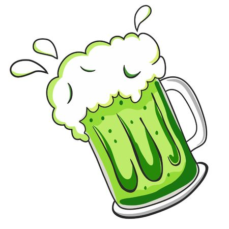 brewed: White beer glass with foam vector icon, logotype concept of pubs, beer drink symbol bar.