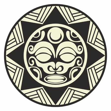 Sun tattoo decoration tribal Illustration