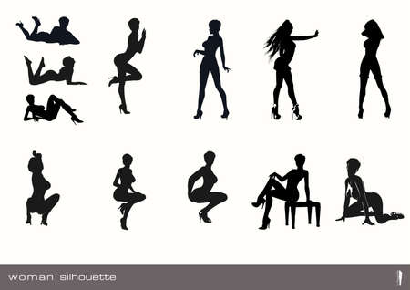 Woman Silhouette Vector Pack.