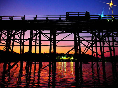insular: Wood Bridge in Twilight