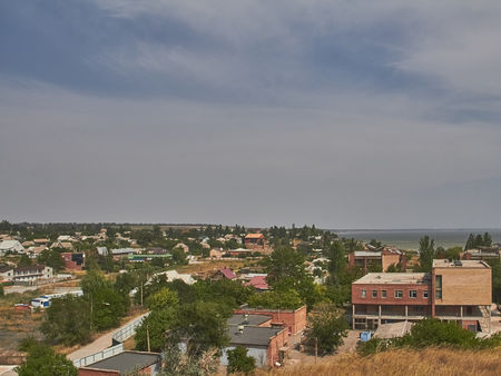 The village of Shyrokyne in Ukraine in July 2014 before the outbreak of war. Stock Photo