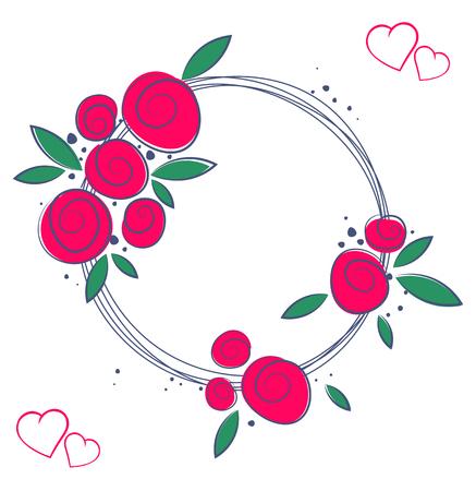 Floral elegance frames and graphic elements, holiday symbols.