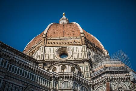 Cathédrale Santa Maria del Fiore à Florence, rénovation de façade, Italie.