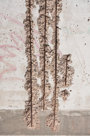 reinforcement metal steel corroded wires, detail. Banque d'images - 106131250