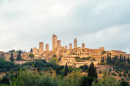 View of the medieval town and towers of San Gimignano, Tuscany, Italy Reklamní fotografie