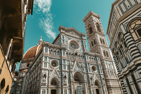 Florence Cathedral Santa Maria del Fiore in sunny day Tuscany, Italy