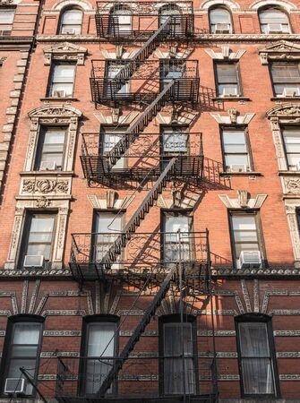 New York City stairs and apartments Banco de Imagens