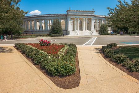 Arlington, VA, USA - Jul 27, 2019. Memorial Amphitheater at Arlington National Cemetery