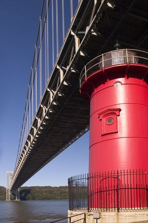 The Little Red Lighthouse and GW Bridge photo