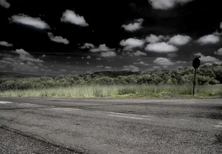 Local road .(Infrared)