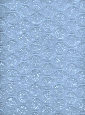 Blue bubblewrap as a background