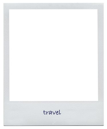 memorabilia: Blank white frame with clipping path