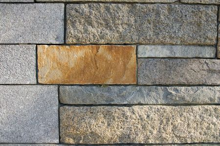 Supportive stone wall as a background