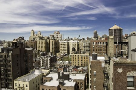 Rooftops of Upper West Side of Manhattan, New York. Stock Photo