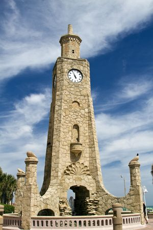Daytona Bech clock tower located on the beach shore, Florida.