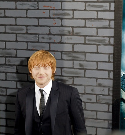 NEW YORK - NOVEMBER 15: Actor Rupert Grint attends the premiere of Harry Potter and the Deathly Hallows - Part 1 at Alice Tully Hall on November 15, 2010 in New York City. Editorial