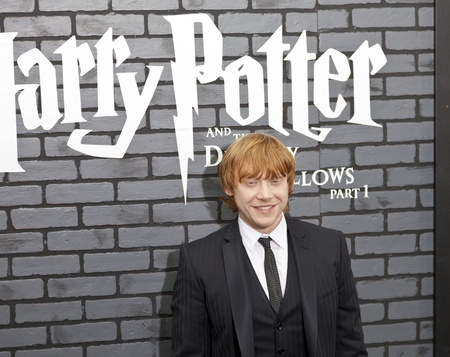 NEW YORK - NOVEMBER 15: Actor Rupert Grint attends the premiere of 'Harry Potter and the Deathly Hallows - Part 1' at Alice Tully Hall on November 15, 2010 in New York City.