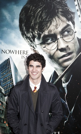 darren: NEW YORK - NOVEMBER 15:  Actor Darren Criss attends the premiere of Harry Potter and the Deathly Hallows - Part 1 at Alice Tully Hall on November 15, 2010 in New York City.