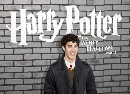 criss: NEW YORK - NOVEMBER 15:  Actor Darren Criss attends the premiere of Harry Potter and the Deathly Hallows: Part 1 at Alice Tully Hall on November 15, 2010 in New York City.