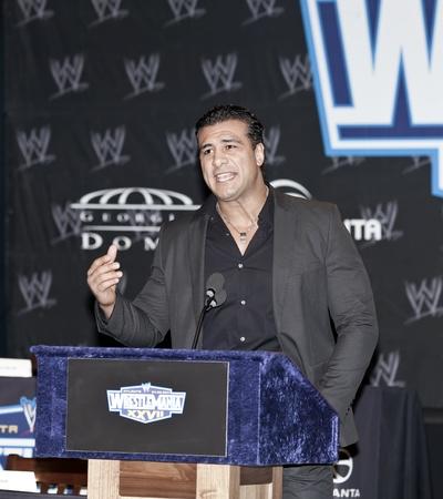 alberto: NUEVA YORK, NY - marzo 30: 2011 Royal Rumble ganador Alberto Del R�o asiste a la Conferencia de prensa de la XXVII WrestleMania en Hard Rock Caf� de Nueva York el 30 de marzo de 2011 en Nueva York