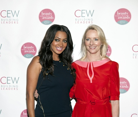 allure: NEW YORK, NY - MAY 20: (L-R) TV personality LaLa Anthony and Editor In Chief of Allure Magazine Linda Wells attend the 2011 Cosmetic Executive Women Beauty Awards at The Waldorf-Astoria Hotel on May 20, 2011 in New York City.