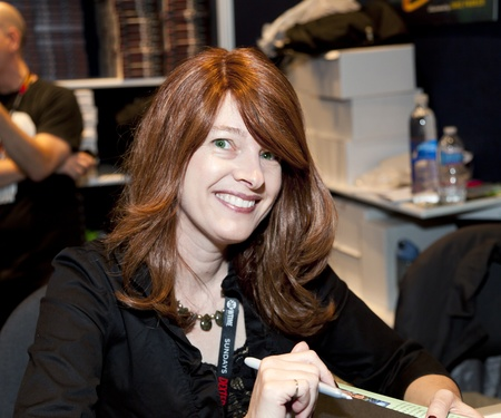 insider: NEW YORK, NY - OCTOBER 15: Author of The Hollow Insider Kim Harrison attends 2011 New York Comic Con at the Jacob Javits Center on October 15, 2011 in New York City.