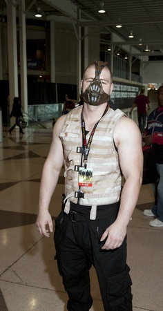 NEW YORK, NY - OCTOBER 15: Unidentified convention goer dressed up in costume attends 2011 New York Comic Con at the Jacob Javits Center on October 15, 2011 in New York City. Stock Photo - 10887996