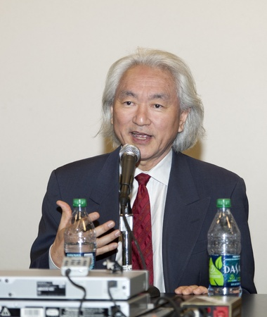 NEW YORK, NY - OCTOBER 15: Dr. Michio Kaku attends 2011 New York Comic Con at the Jacob Javits Center on October 15, 2011 in New York City. Imagens - 10887993