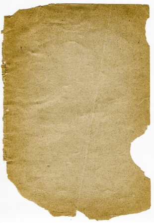 Antique teared down burnt paper on white background Stock Photo - 17337699
