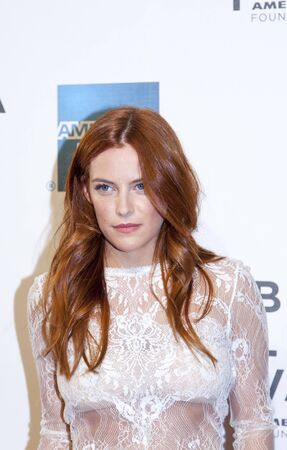 NEW YORK, NY - APRIL 17: Elvis Presley's granddaughter actress/model Riley Keough attends the 'Mistaken for Strangers premiere during the opening night of the 2013 Tribeca Film Festival at BMCC Tribeca PAC on April 17, 2013 in New York City. Stock Photo - 19169675