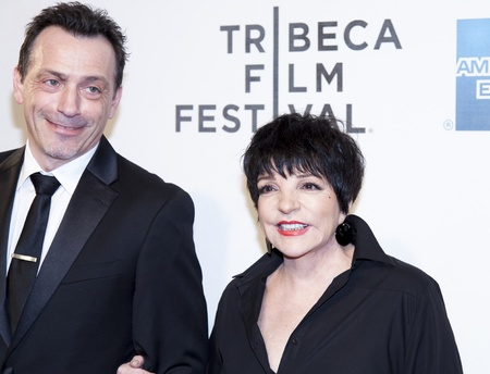 NEW YORK, NY - APRIL 17: Liza Minnelli with guest attend the Mistaken for Strangers premiere during the opening night of the 2013 Tribeca Film Festival at BMCC Tribeca PAC on April 17, 2013 in New Yo