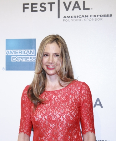 NEW YORK, NY - APRIL 17: Actress Mira Sorvino attend the Mistaken for Strangers premiere during the opening night of the 2013 Tribeca Film Festival at BMCC Tribeca PAC on April 17, 2013 in New York City.