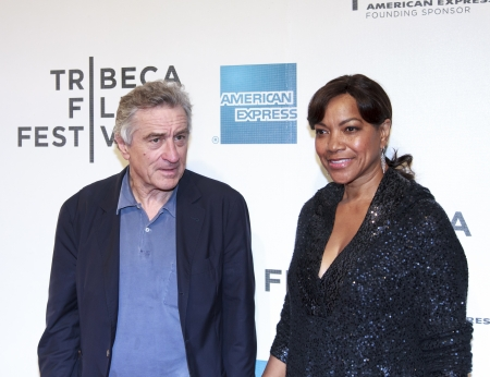 NEW YORK, NY - APRIL 17: Robert De Niro and Grace Hightower  attend the Mistaken for Strangers premiere during the opening night of the 2013 Tribeca Film Festival at BMCC Tribeca PAC on April 17, 2013 in NYC