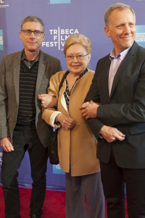 jeffrey: NEW YORK, NY - APRIL 24: (R-L)Rob Epstein, Dr. Mathilde Krim and Jeffrey Friedman attend Tribeca Talks: After The Movie: Battle Of amFAR during the 2013 Tribeca Film Festival on April 24, 2013 in New York City.
