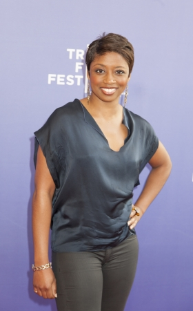NEW YORK, NY - APRIL 24: Actreesssinger Montego Glover attends HBOs The Battle of amfAR premiere at Tribeca Film Festival on April 24, 2013 in New York City.